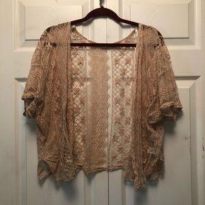 Blu Pepper Crochet Lace Kimono - Cottagecore!!!